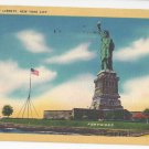 New York Statue of Liberty Vintage Linen Postcard
