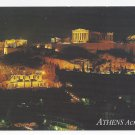 Greece Athens Acropolis at Night 1995 Haitalis Postcard 4X6