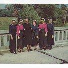 Amish Girls Mennonite Lancaster PA Traditional Sunday Clothing Vintage Postcard