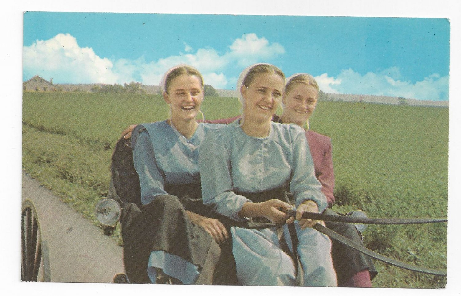Amish Postcard Mennonite Girls Lancaster Co PA Traditional Clothing ...: ecrater.com/p/18028501/amish-postcard-mennonite-girls-lancaster