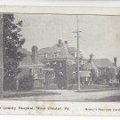 West Chester PA Chester County Hospital 1907 Henrys Souvenir Postcard