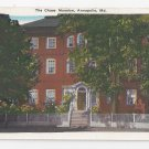 Annapolis MD Chase Mansion Vintage Postcard