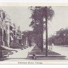 Chicago IL Residence Street Scene 1909 Illinois Postcard