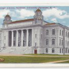 Syracuse University NY Carnegie Library ca 1920 Postcard