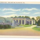Wilmington DE Dupont Conservatory West End Tichnor Linen Postcard