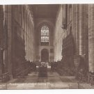 UK Peterborough Cathedral Interior RPPC St Peters Cambridgeshire Real Photo Postcard