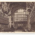 UK Windsor Castle St Georges Chapel Choir Berkshire Vintage Photochrom Postcard