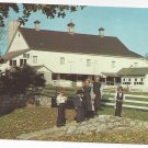 Pennsylvania Dutch Amish Children in front of Barn Vintage 1969 Postcard