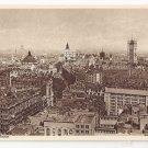 UK London Heart of City Birds Eye View Great Britain Vintage Photochrom Postcard