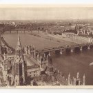 UK London From Victoria Tower ca 1920 Vintage Photochrom Postcard