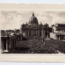 RPPC Italy Vatican St Peters Square Piazza Pietro People Cathedral Real Photo