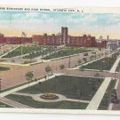 Atlantic City NJ Chelsea Park Blvd High School 1936 Tichnor Postcard