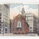 Boston MA Old State House Vintage 1922 Postcard