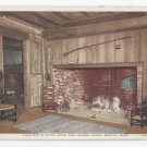 Boston MA Fireplace Paul Revere House Vintage Photostint Postcard