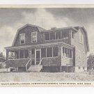 Ayer MA Residence Maj General Hodges Camp Devens Vintage 1917 Postcard