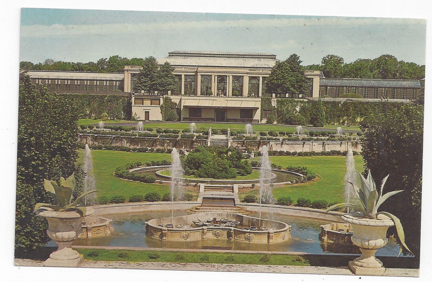 Kennett Square PA Longwood Gardens Main Conservatory Fountains Postcard