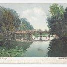 Concord MA Concord Bridge Vintage 1909 UND Postcard