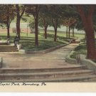 Harrisburg PA Capitol Park Walk Vintage Postcard