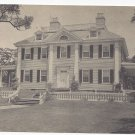 Cambridge MA Longfellow House Vintage H.J. Burrowes Postcard