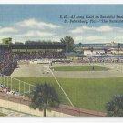 FL St Petersburg Al lang Field Baseball Vintage 1951 Linen Postcard