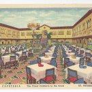 FL St Petersburg Tramor Cafeteria Vintage 1951 Linen Postcard