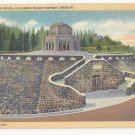 OR Vista House Columbia River Highway Vintage Linen Postcard