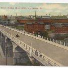 PA Harrisburg Mulberry Street Bridge Vintage Postcard