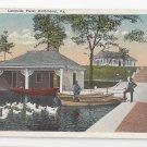 VA Richmond Lakeside Park Vintage 1921 Postcard