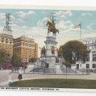 VA Richmond Washington Monument Capitol Square Vintage 1921 Postcard