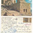 Athens Greece Acropolis Propylaea Stamp Vintage Postcard 4X6