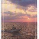 MA Cape Cod Falmouth Motor Boat Sunset Vintage Postcard 4X6