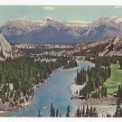 Canada Banff National Park Bow Valley Fairholm Range Vintage 1961 Postcard