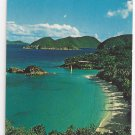 Trunk Bay Virgin Islands Nat'l Park St John Vintage Postcard