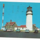 MA Cape Cod Highland Light Vintage Lighthouse Postcard