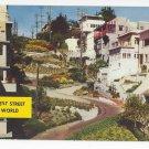 CA San Francisco Lombard St Crookedest Street Vintage 1962 Postcard