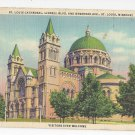 MO St Louis Cathedral Vintage 1943 Linen Postcard