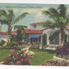 FL Miami Beach Home Vintage 1954 Linen Postcard