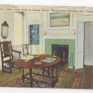 PA Valley Forge Washingtons Office Dining Room Vintage 1948 Linen Postcard