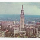 OH Cleveland Public Square Terminal Tower Aerial View Vintage Postcard
