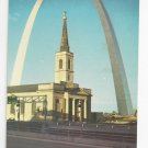 MO St Louis Gateway Arch Old Cathedral Vintage 1968 Postcard