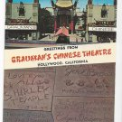 CA Hollywood Grauman's Chinese Theatre Vintage 1969 Postcard