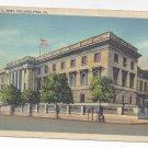 PA Philadelphia US Mint Vintage Linen Postcard