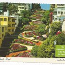 CA San Francisco Lombard Street Crookedest in World Vintage Postcard 4X6