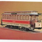 Trolley Electric Street Car of 1898 Smithsonian Museum Vtg Postcard 4 X 6