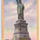 NY Statue Of Liberty New York Harbor Vintage 1951 Linen Postcard