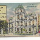 MA Boston City Hall Vintage Linen 1945 Postcard