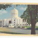 OR Salem State Capitol Vintage Curteich Linen Postcard