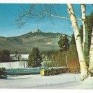NH Mt Chocorua Winter White Mountains Vtg Postcard