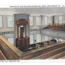 VT Rockingham Meeting House Interior Vintage Postcard CW Hughes