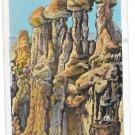 WY Hells Half Acre The Idols Rock Formation Vintage Postcard